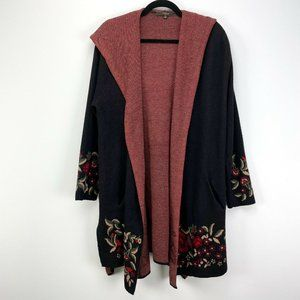 Maxsport Floral Hooded Open Cardigan